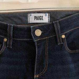 Paige Skyline Skinny Dark Wash Denim Jeans 26